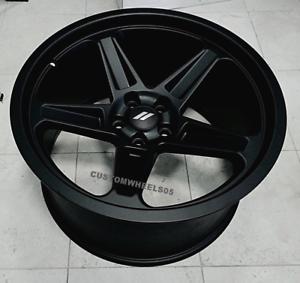 dodge demon wheels satin black 20x9 5 20x10 5 set challenger charger hellcat ebay. Black Bedroom Furniture Sets. Home Design Ideas