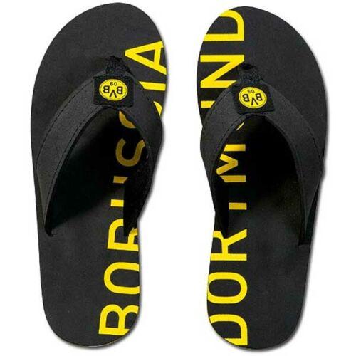 New Black UK 3//4 Borussia Dortmund FC Official Kid/'s Club Sandals