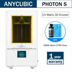 ANYCUBIC Photon S Imprimante 3D Printer Haute Précision+500ml UV Resin Gift EU