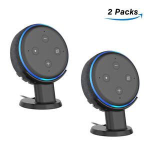 2X-Amazon-Echo-Dot-3rd-Gen-Pedestal-Stand-Desk-Holder-Improves-Sound-Visibility