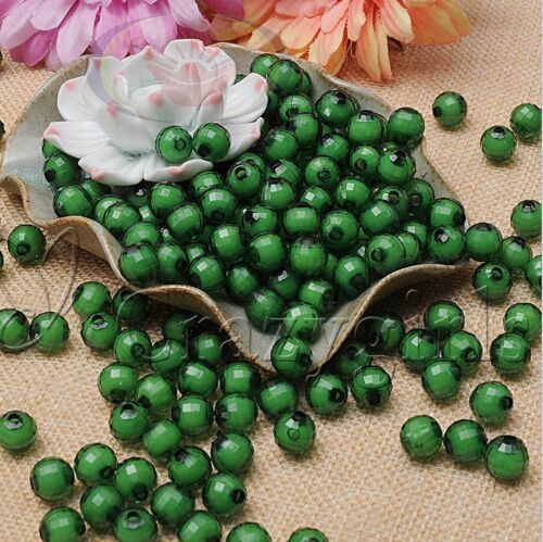100pcs 10mm Watermelon Acrylic Beads In Beads Spacer Beads For Jewelry Finding S