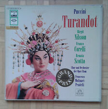 B821 PUCCINI TURANDOT NILSSON CORELLI SCOTTO PRADELLI 3 x LP EMI ANGEL GOLD STER