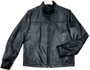 97aee772ca1 Hugo Boss Leather Jacket Men s Blouson Regular Fit in Nappa Lambskin ...