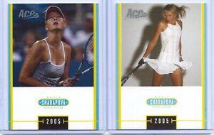 2-MARIA-SHARAPOVA-2005-ACE-TENNIS-034-SPECIAL-EDITION-034-2-CARD-ROOKIE-LOT-RUSSIA