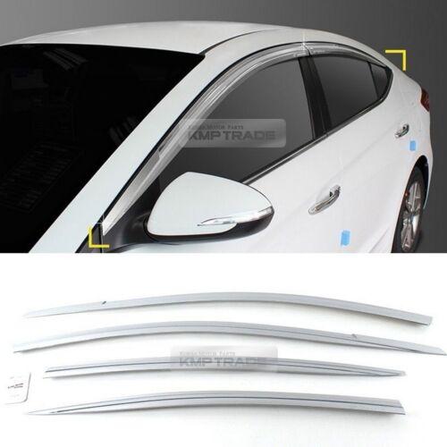 Chrome Window Visor Rain Sun Guards 4P D202 For HYUNDAI 2017 Elantra AD