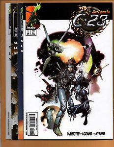 Jim-Lee-039-s-C-23-1-2A-2B-amp-3-Image-Comics-4-book-lot-NM-to-NM