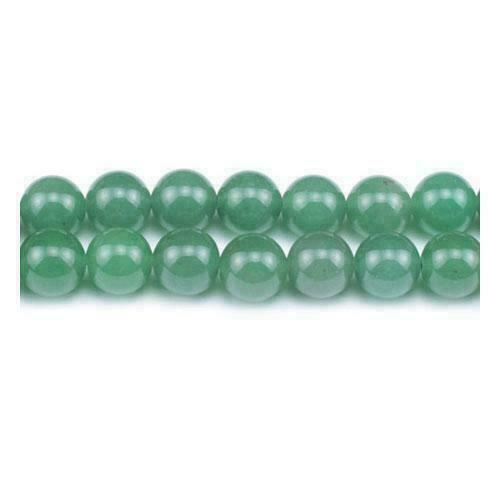 Aventurine Round Beads 8mm Green 40 Pcs Frosted  Gemstones DIY Jewellery Making