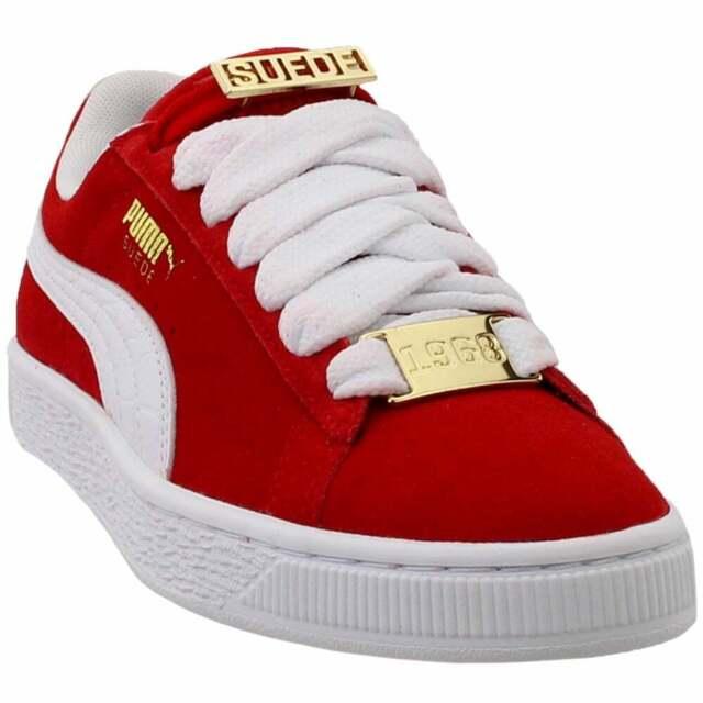 Puma Suede Classic B-Boy Fabulous (Big Kid) Sneakers Casual Sneakers Red  Boys