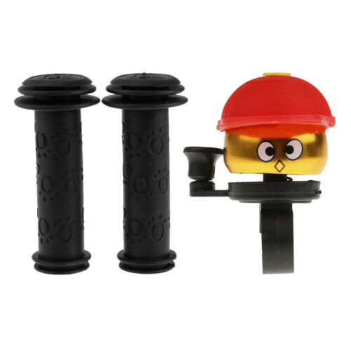 Loud Bicycle Ping Bell Handle Bar Grip Cover for Kids Bikes Scooter Tricycle