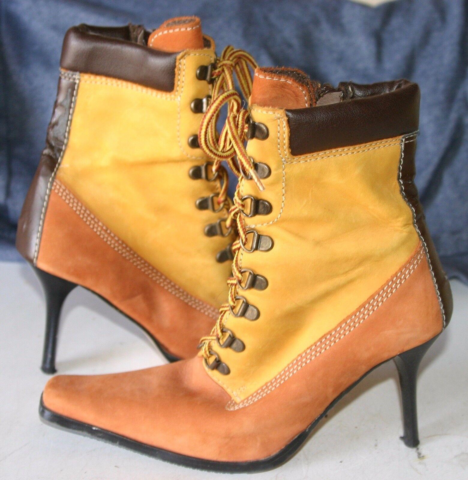 BECKIR DESIGNER Multi-Farbeed ankle boots - Leder - Größe 7 - STUNNING