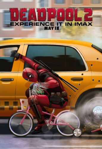 IMAX v7 24x36 Deadpool 2 Movie Poster Josh Brolin - Ryan Reynolds Cable