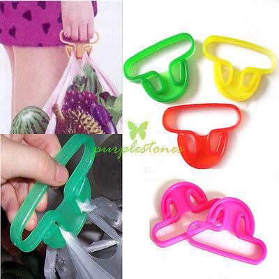 Durable Shoping Bag Bucket Stuff Vegetable SoftGrip Handle Lifter Holder Stander
