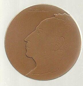 1974-1st-Artur-Rubinstein-Piano-Comptition-by-Picasso-59mm-98g-Bronze-COA