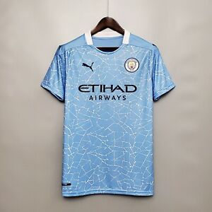 Manchester City 2020/21 Home Soccer Jersey Replica Size M ...