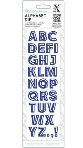 Machines X cut Alphabet Die BEVELLED Style Lettering Use in Xcut Sizzix Etc