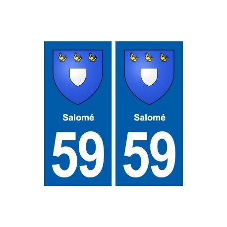 59Salomé blason autocollant plaque stickers ville arrondis