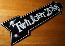 TWILIGHT ZONE ARROW Black & White Halloween Sign Haunted House TV Prop Decor NEW