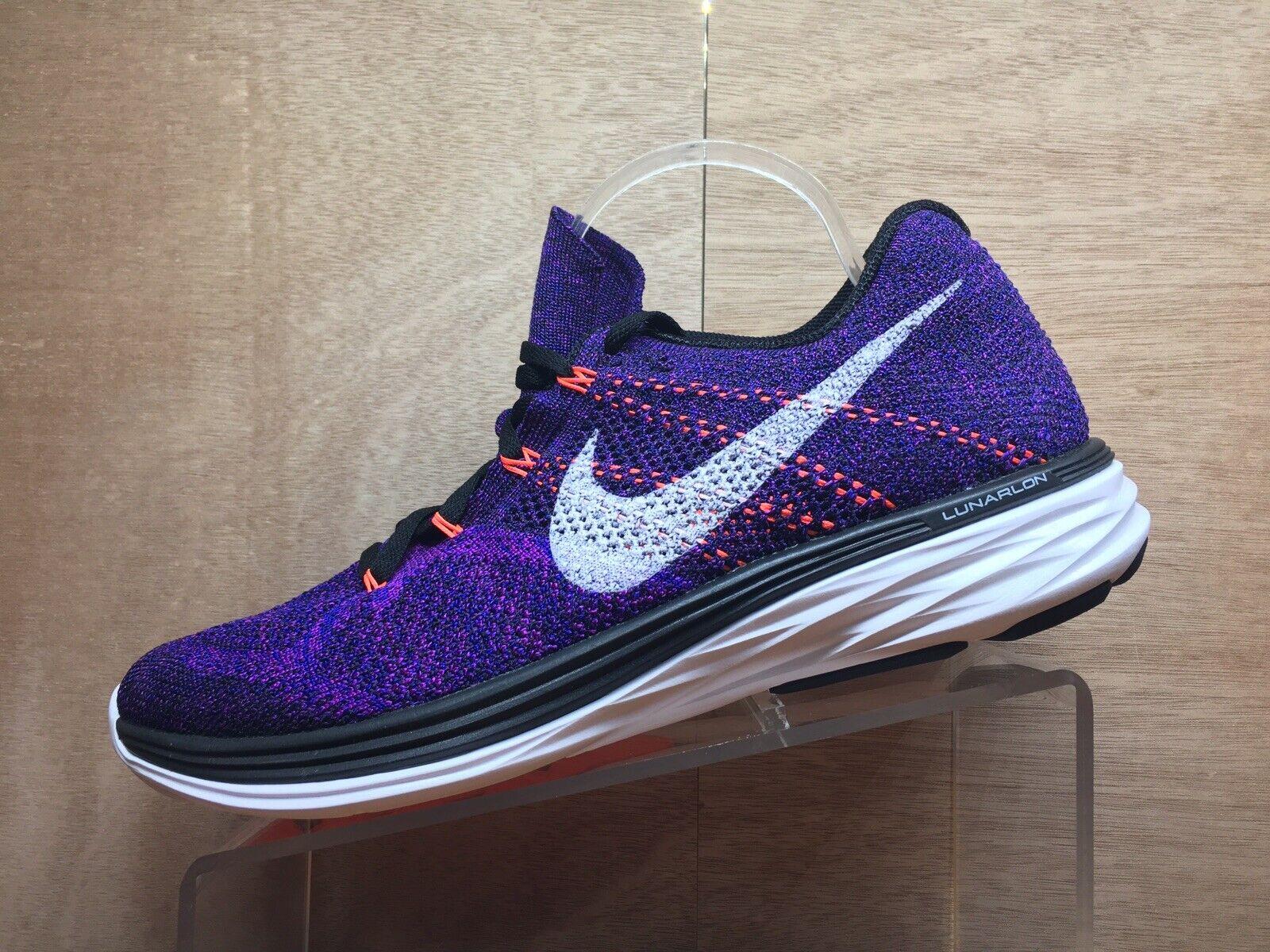 Nike Flyknit Lunar 3 Running shoes Men's Size 11 Purple 698181-014