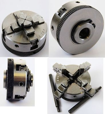 Soba 4 Jaw Self Centering Lathe Chuck 50 mm Dia M12 Thread  (Ref: 146200)