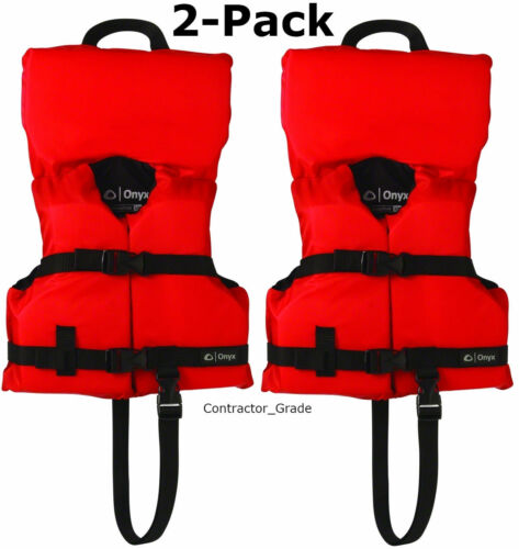 2-Pack Red Infant/Child Life Jacket Preserver Vest Type II USCG Fits Kids<50 lbs