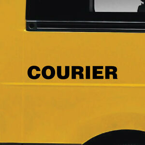 2x-Courier-Car-Van-or-Truck-Stickers-6822EN