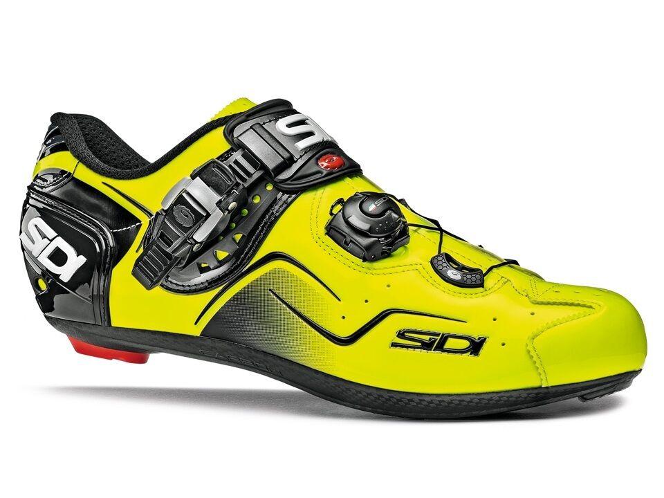 New Sidi Kaos Cycling schuhe, Gelb Fluo, EU38-44