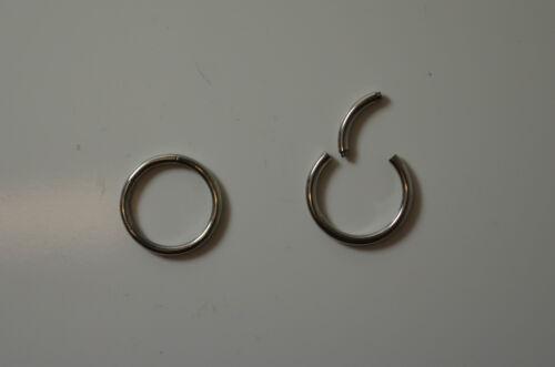 Piercing Anneau Fermé Segment Acier Chirurgical 1.2 mm