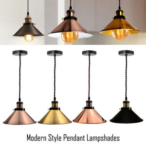 Modern-ceiling-pendant-light-vintage-lamp-shade-E27-2m-3core-Twist-Fabric-Cable