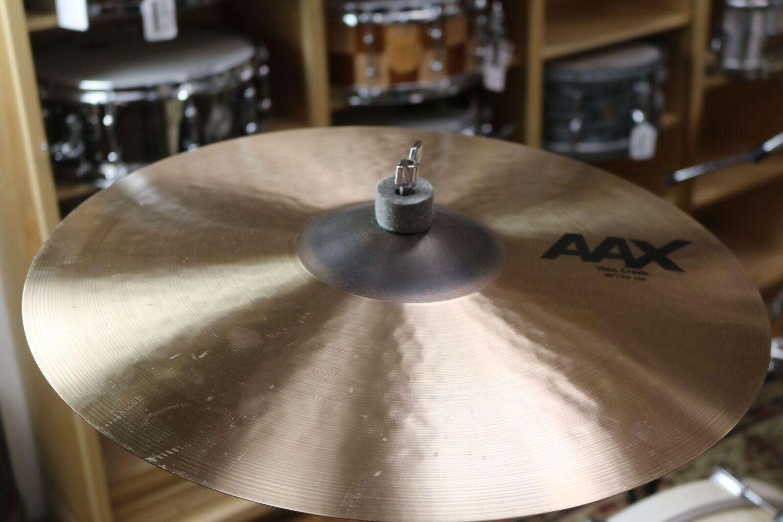 """Sabian 18"""" AAX Thin Crash-Demo of Exact Cymbal - 1309 grams"""
