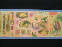 Wallpaper Borders Rl2112b Garden Vegetables Fruits Tools Imperial Discontinued