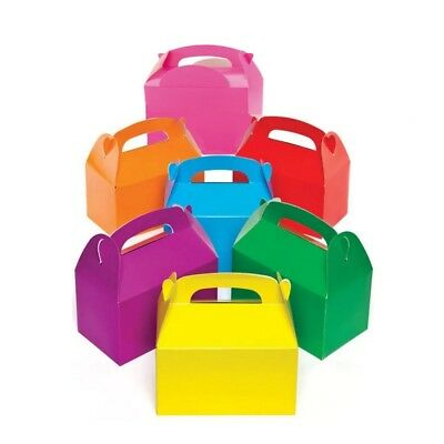 Assorted Plain Rainbow Colours Childrens/Kids Food Usable Party Meal Boxes