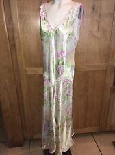 Oscar De La Renta Pink Label Full Length Spring Floral Night Gown Size Large