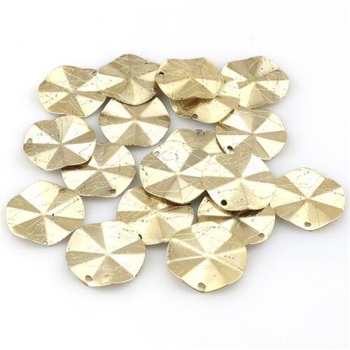 22603 2 Paire = 4pcs or pâle géométrique irrégulière plaquette À faire soi-même Boucle d/'Oreille Accessoires