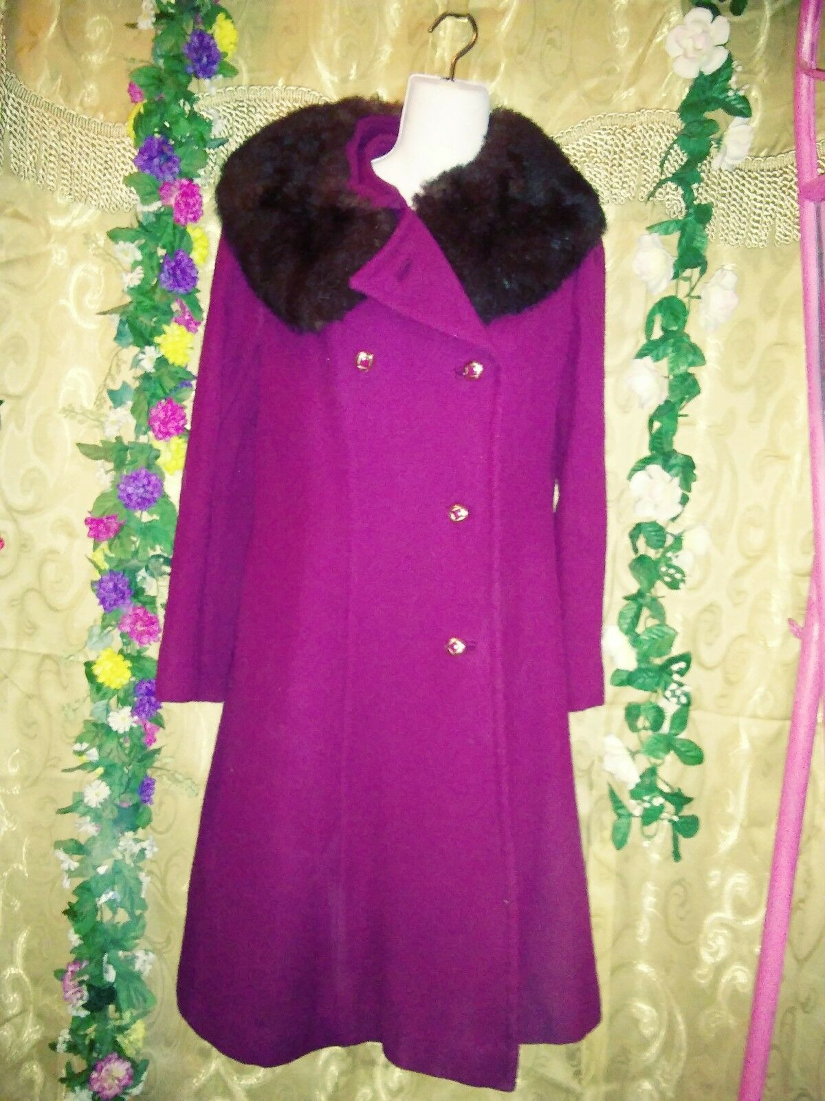 Ladies Mar-Del by Rice Gorgeous Couture coat sz 8 beautifully made super warm