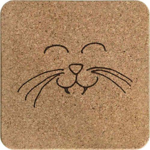 /'Lächelnde Katze/' Kork Topfuntersetzer TR00013204