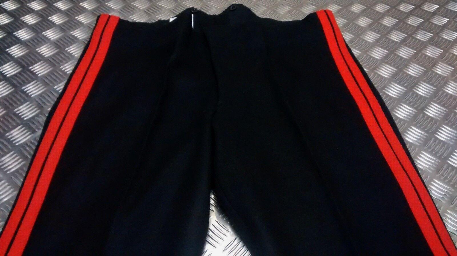 Genuine British Army No1 All Ranks Dress Trouser Double rosso Stripes - All Dimensione
