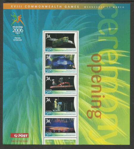 AUSTRALIA 2006 COMMONWEALTH GAMES OPENING CEREMONY Souv Sheet No 1 MNH