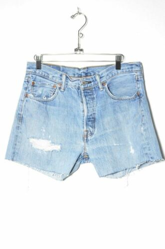 "Levis 501 Distressed Cutoff Denim Shorts 31"""