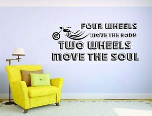 Biker Motorcycle Wall Mural Vinyl Decal Sticker Decor Room Harley Bike