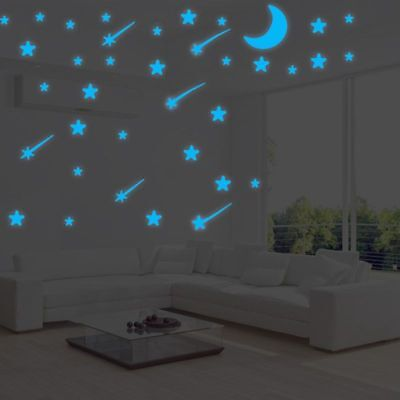 Glow In The Dark Luminous Kids Bedroom Wall Stickers Light Switch Decor 6A