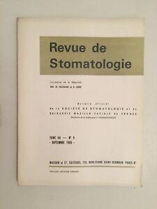 Revista de Estomatología Tomo 66 N º 9 Masson Y Cie Septiembre 1965