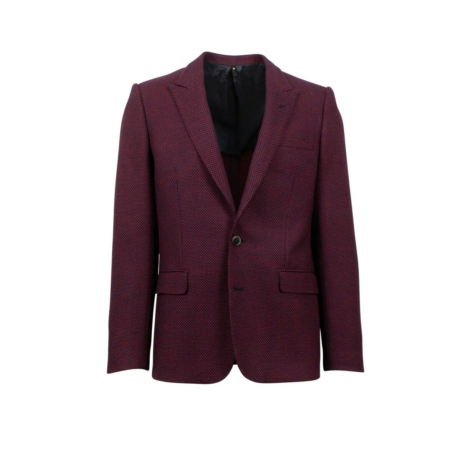 NWT CARUSO Maroon Wool Two Button Sport Coat 46 36 R Drop 10