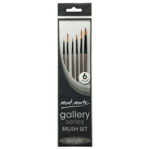 6pc-Mont-Marte-Fine-Acrylic-Paint-Brushes-Art-Artist-Painting-Taklon-Brush-Set