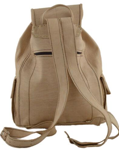 Leather Backpack Shoulder School Bags Travel Adjustable Handbag Camping Hiking