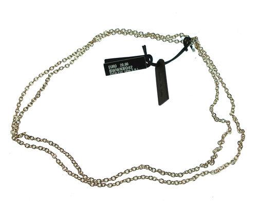 Collana donna acciaio componibile collezione My Word in bronzo rodiato dorato cm
