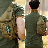 Men Nylon Waist Fanny Pack Hip Bum Tactical Military Travel Climb Belt Chest Bag