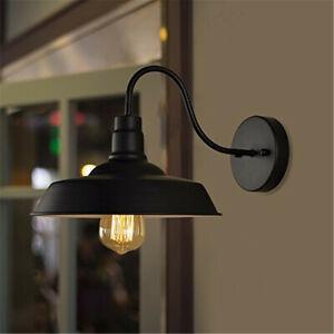 Industrial-Vintage-Wall-Mount-Lamp-Garage-Porch-Barn-Light-Retro-Metal-Sconce