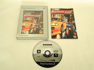 MIDNIGHT-CLUB-STREET-RACING-complete-in-box-with-manual-PS2-Playstation-PAL-game