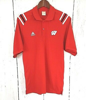 University of Wisconsin Badgers Mens Polo Short Sleeve Polo Shirt Large