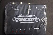 2.4GHz Wireless Audio Video AV Transmitter 4CH W/remote RV TRUCK CAR12v
